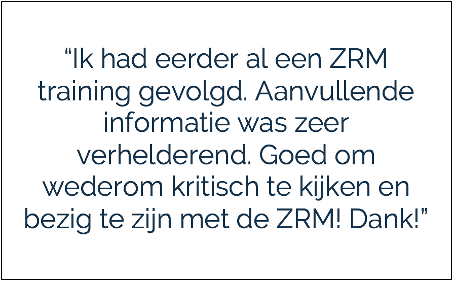 Zelfredzaamheidstraining ZRM training